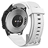 MoKo Cinturino Per Huawei Watch 2, Braccialetto Ricambio Sportivo in Silicone per Huawei Watch 2nd, Bianco