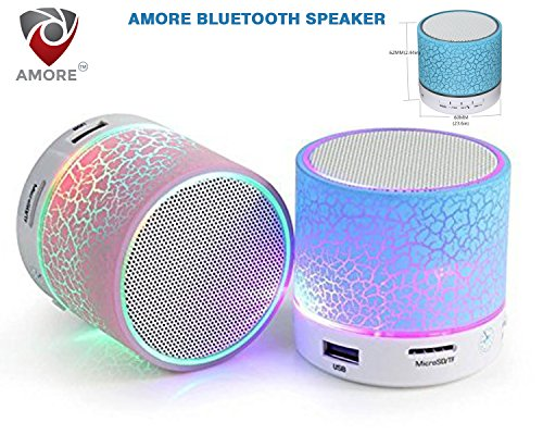Amore Wireless Led Bluetooth Speakers Compatible With Andrioid devices ,Assorted Colors