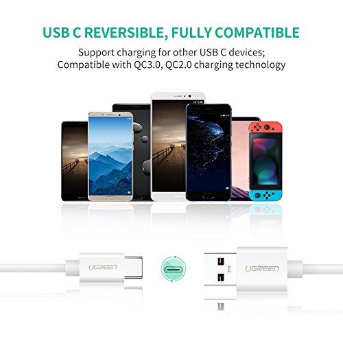 UGREEN Cavo USB C 5A per Huawei P30 Mate 20 PRO P20 Lite Supercharge Cavo USB Tipo C Type C Ricarica Rapida per Huawei P20 PRO P10 P10 Plus Mate 10 PRO Honor 10 9 V10, etc. (1M)