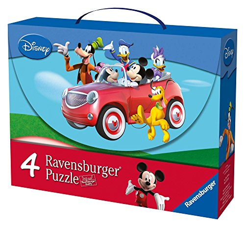 Ravensburger 72149 Mickey Mouse Clubhouse Valigetta 4 puzzle