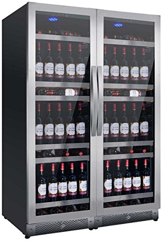 Nevada Cantina vino NW316D-SSL con porte special inox da 119cm