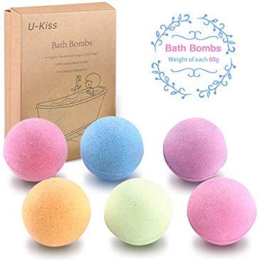 Ensemble cadeau de bombe de bain JUSTDODO 6 PCS, tout bombe de bain d'huile essentielle naturelle, cadeaux d'anniversaire pour elle, filles