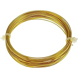 Pure DIY 20 Gauge Brass gold colour immitation jewellery wire 0.94 mm 10 meters - Beading wire - Crafts wire - Voolex