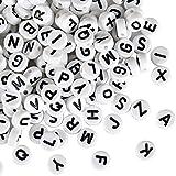 Naler 1200 PZ. Perle di 6 mm circa alfabeto perline per schmucker fai da te