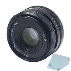 Meike–mk-e-35–1,735mm F1.7gran apertura lente de enfoque manual Multi Coated APS-C para Sony NEX3NEX5NEX6NEX7A5000A5100A6000A6100A6300+ Mcoplus gamuza de limpieza