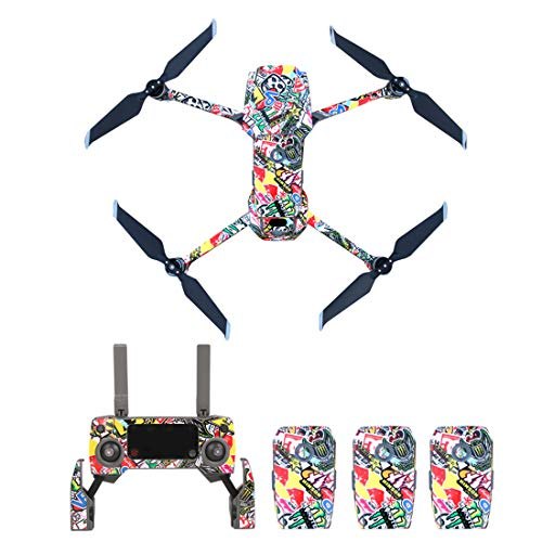 BOROK Impermeabili PVC Sticker Decal Waterproof Anti Scratch Skin Guard Adesivi Decals per DJI Mavic...
