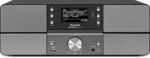 TechniSat Digitradio 361 CD IR Internetradio (WLAN, LAN, DAB+, DAB, UKW, CD-Player, Bluetooth, Radiowecker, Wifi Streamingfunktion, 2 x 5 Watt Lautsprecher) anthrazit