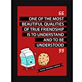 Framed Quotes on Friendship - Funny Poster For Home and Kids Room Decor - True Friends Understand