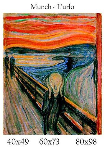 Stampa in Tela Canvas 100% QUALITà ITALIA - Munch - L'urlo effetto Dipinto Idea Regalo Casa quadro...