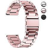 Fullmosa Cinturino Orologio con Sgancio Rapido, Cinturino in Acciaio Inossidabile 16 mm, 18 mm, 20 mm, 22 mm e 24 mm 22mm Oro rosa