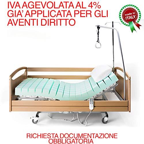Goldflex - Letto Degenza Ospedaliero Ortopedico 90X195 Sanitario Robusto Anziani Malati Disabili...
