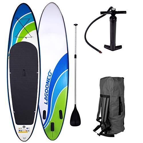SUP Board Stand up Paddling Surfboard'Speed' 320x76x15cm aufblasbar Alu-Paddel Hochdruck-Pumpe Transportrucksack 115KG Tragkraft