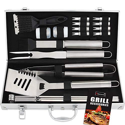 20pcs Set Accessori Barbecue Utensili Barbecue in Acciaio Inox - Attrezzi per Barbecue Kit Barbecue...