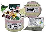 Kit de supervivencia de cumpleaños para mamá en una lata. Regalo divertido - humorístico mamá/mamá/madre/mamá/regalo de momia y tarjeta todo en uno. Disponible en otros colores