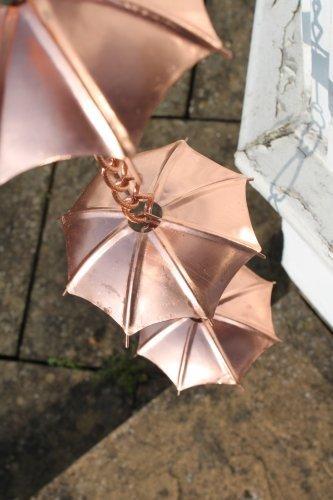 Regenablaufketten - Regenablaufkette für den Schirm - Kupferbeschichtet - 2,5 m lang