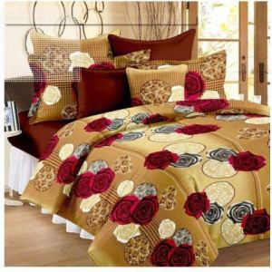 Panipat Textile Hub 100% Cotton Double BedSheet for Double Bed with 2 Pillow Covers Set, Queen Size Bedsheet Series, 140 TC, 3D Printed Pattern 28  Panipat Textile Hub 100% Cotton Double BedSheet for Double Bed with 2 Pillow Covers Set, Queen Size Bedsheet Series, 140 TC, 3D Printed Pattern 51FlPFYAp4L