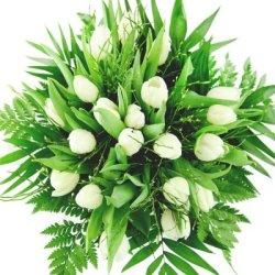 floristikvergleich.de Blumenstrauß Frühlingsblumen – Himmlischer Frühlingsstrauß mit frischen weißen Tulpen