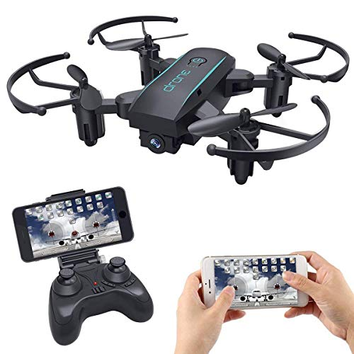 MakerStack Mini Drone FPV con WiFi Camera HD 720P Live Video, 2.4GHz 4 CH RTF Rc Elicottero Quaquot...
