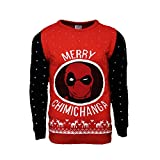 Marvel Official Deadpool Merry Chimichanga Christmas Jumper/Ugly Sweater - UK S/US XS
