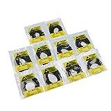 MagiDeal 500pcs 0.8mm Anelli Guarnizione In Gomma DIY Orologiaio Riparazione Per Orologio