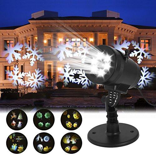 Proiettore Natale Luci 14 Lenti Proiettore Stelle Luci di Natale Decorazioni Natalizie per...