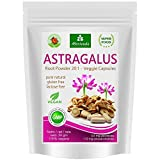 Capsule di Astragalo (112 mg di polisaccaridi e 0,8 mg di glucosidi) Tragant Tragacantha Membranaceus polvere di radice - prodotto vegetale di qualità (1x90 capsule)
