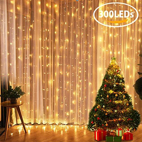 Tenda Luminosa FLY5D 300 LED Catena Luci Interno 3x3metri Luci Stringa Impermeabile Luci LED Natale...