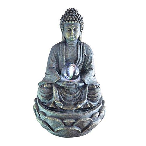 Zen Luce SCFR 8G Buddha Meditation Fontana Grande Interni Dark Brown/Cioccolato 21 x 21 x 30 cm
