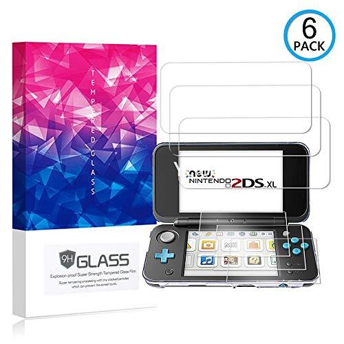 Ycloud [6 Pack] Pellicola Protezione di Schermo per Nintendo New 2DS XL,[9H Dureza/0.3mm],[Alta Definicion] Vetro temperato Pellicola Protettiva per Nintendo New 2DS XL