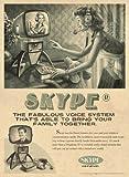 Grande affiche publicitaire Vintage usurpé SKYPE
