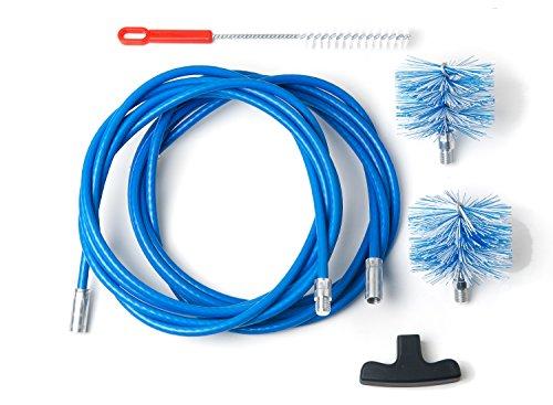 BARETTO - Kit 6 Mètres de Ramonage - 2 Brosses Pellet 80 et 100mm - Kit Nettoyage de Poêle à Pellets / Granulés