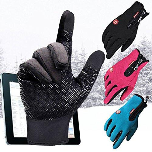 Uomo Donne Guanti Touch Schermo - Inverno Guanti Ciclismo All'Aperto Sciare Bicicletta A Caccia A...