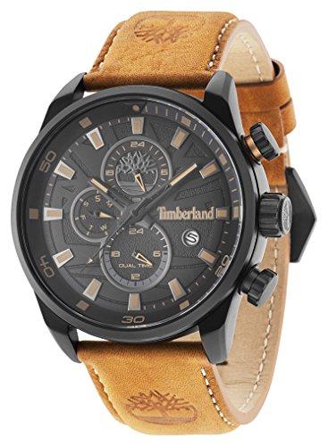 Timberland Orologio Cronografo Quarzo Uomo con Cinturino in Pelle TBL14816JLB.02