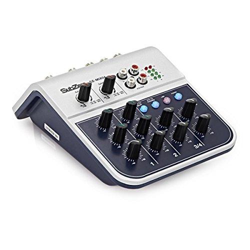 SubZero SZ-MIX04 Mini Mixer de 4 Canales