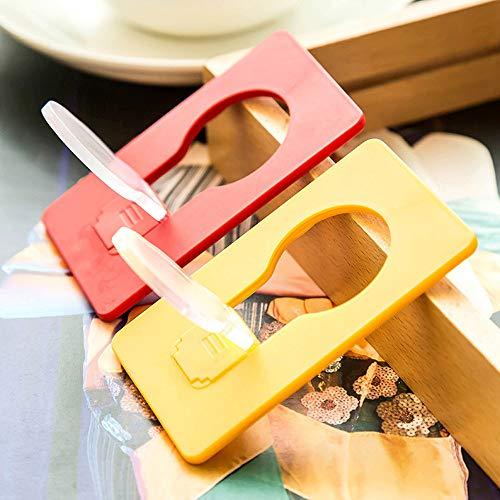 Beonzale - 5 Mini Portafogli tascabili a Forma di Carta di Credito, con Luce Notturna a LED