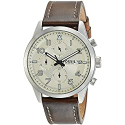 Fossil Chronograph Off-White Dial Men's Watch-FS5138I