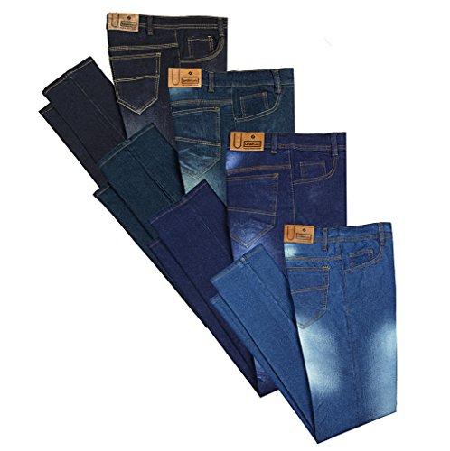 London Looks Men Slim Fit Multi Color Jeans (Combo Of 4)(Light Blue_34)