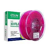 eSUN Filament PLA Transparent 1.75mm, Imprimante 3D Filament PLA, Précision Dimensionnelle +/- 0.05mm, 2.2 LBS (1KG) Bobine Pour Imprimante 3D et Stylos 3D, Violet Transparent