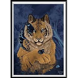 Xmansky DIY 5D Kit de Pintura de Diamante,DIY 5D diamond painting, Diamantes de imitación de Diamante Bordado de Punto de Tigre león cerdo