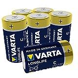 VARTA Longlife Batterie C Baby Alkaline Batterien LR14 (6er Pack)