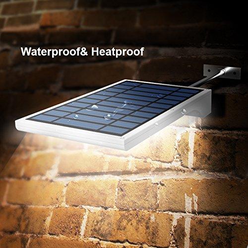 innogear waterproof solar gutter lights 36 led motion sensor light