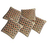Fab Nation Set Of 5 (16X16 Inches) - Multicolour Handloom Cotton Cushion Covers
