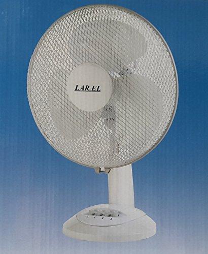 Ventilatore da tavolo LAREL LAD30 oscillante 30 cm bianco