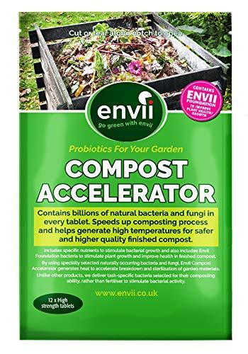 Envii Compost Accelerator - Bakterielle Behandlung zur Beschleunigung des Kompostierprozesses, organischer Zersetzung und Starter - 12 Tabletten