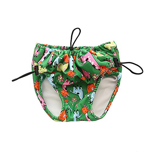 Aajeauty Baby & Toddler Swim Pannolini Lace-up Regolabile Impermeabile a Tenuta stagna Riutilizzabile Pannolini da Nuoto Costumi da Bagno Verde L