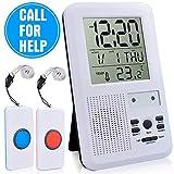 CAPMESSO Haus Wireless Mobiler Alarm Notruf Knopf Hausnotruf Panikalarm Funkalarm 500 Meter Reichweite für Krankenschwester Älterer Mann