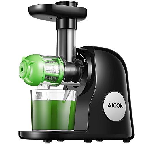 Estrattore di Succo a Freddo, Aicok BPA Gratuito Estrattore Frutta Verdura, Motore Silenzioso e...