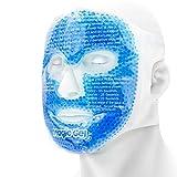 Máscara facial Magic Gel de refrigeración de alta calidad - Paquete de gel para dolores de cabeza, terapia para la piel, el sueño y para ojos hinchados.