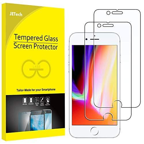 JETech Pellicola Protettiva per iPhone 8 e iPhone 7, Vetro Temperato, Pacco da 2