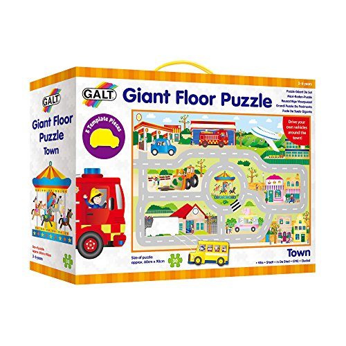 Galt 1005023Giant Floor puzzle Town, and Road Track per bambini